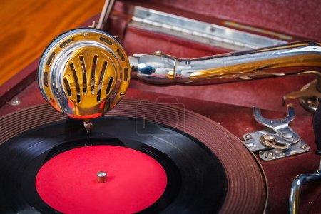 Gramophone closeup