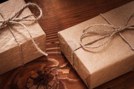 Vintage paper giftboxes