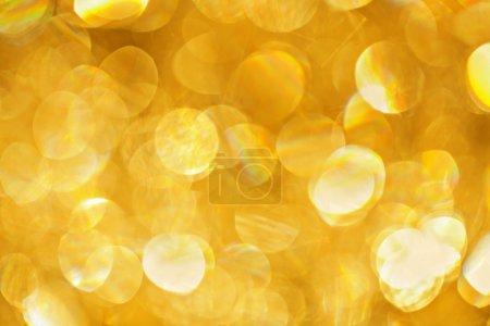 Golden lights bokeh background