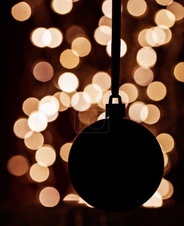 Silhouette of christmas ball