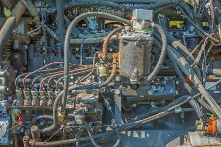 Messy diesel motor
