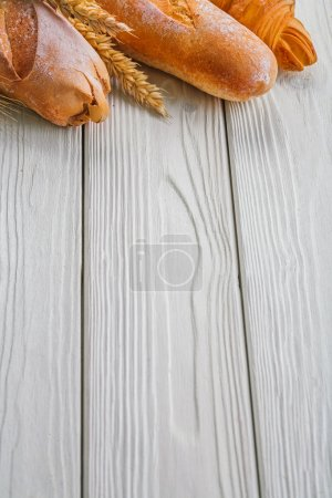 Baguettes and ears of wheat rye