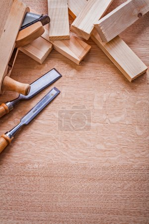 Carpentry tools chisels old fashioned