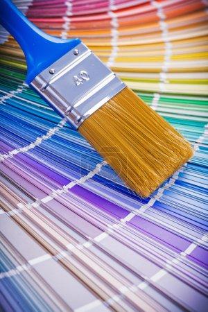 Paint brush on color palette