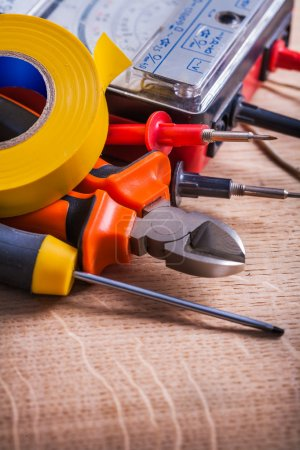 Very close up view electrical tools