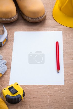 Blank sheet of paper with pencil