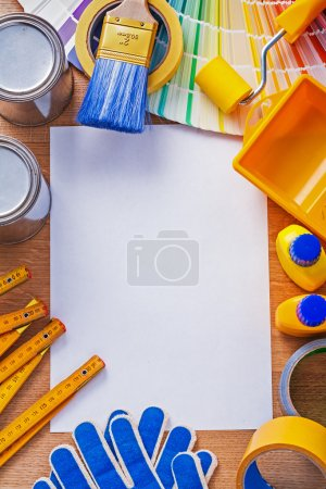 Blank paper with set of repair objects