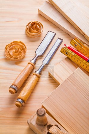 Set of woodwork and joinery tools