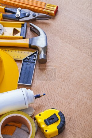 stack of building working tools