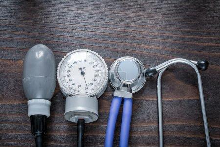 Medical stethoscope and tonometer