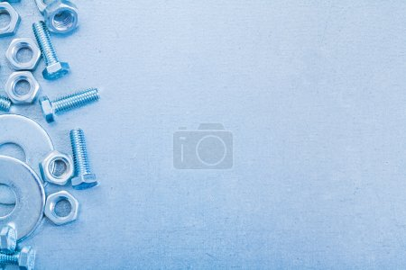 Metallic background with screwbolts
