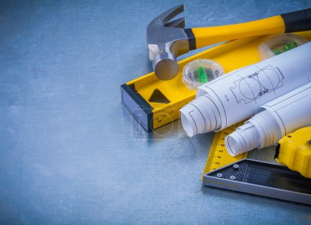 Hammer measuring line construction plans