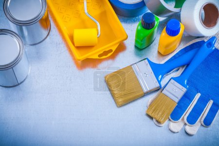 Protective gloves and paint tools