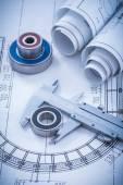 Construction plans, metal slide caliper