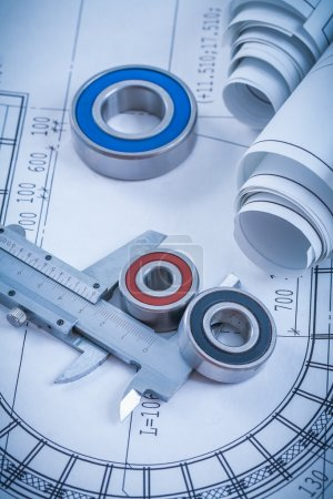 Rolls of construction drawings, rolling bearings