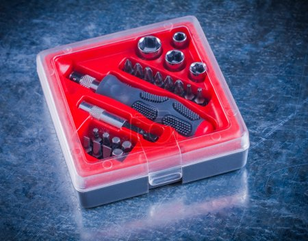toolbox with screwdriver and replaceable bits