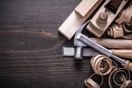 Planer, claw hammer and firmer chisels