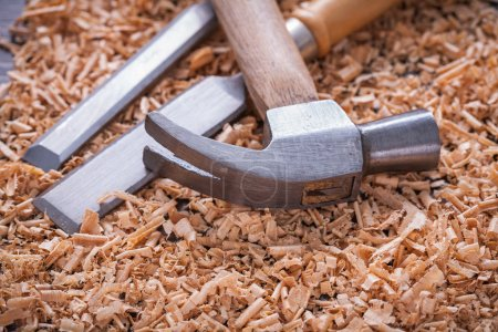 Claw hammer and chisels