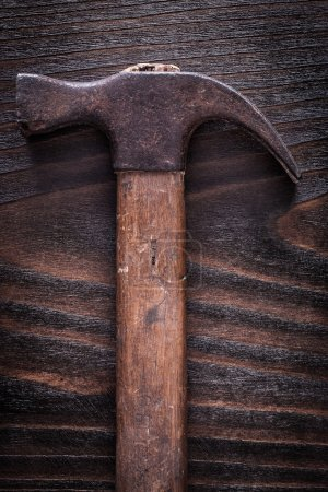 Rusty old-fashioned claw hammer