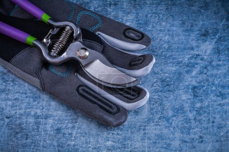 Pruning shears staff protective gloves
