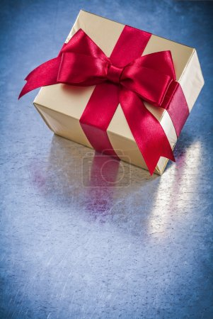 Wrapped golden giftbox