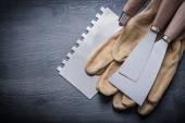 Pair gloves paint scrapers