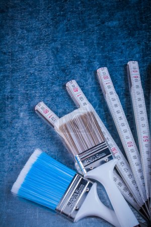 Wooden meter paint brushes