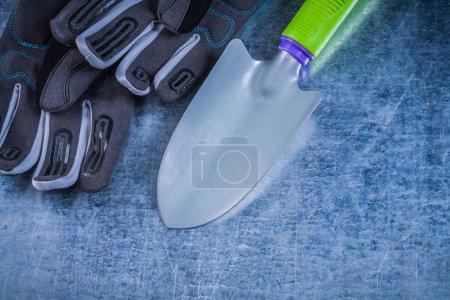 Metal hand spade safety gloves
