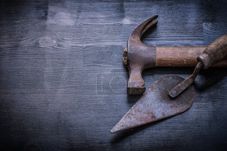 claw hammer and putty knife