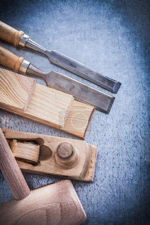 wooden planer mallet bricks