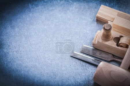 Wooden planer and firmer chisels