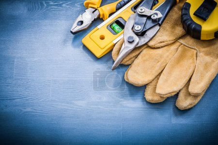 Pliers steel cutter and tape-line