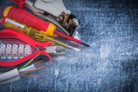 Wire strippers protection and insulated screwdrivers
