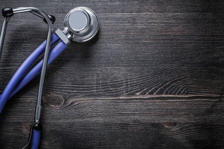New stethoscope on wood