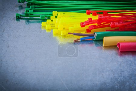 Plastic cable ties and electric wires