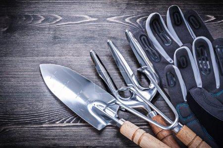 Hand spade, rake, trowel fork