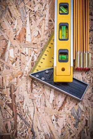 Square ruler, construction level, meter
