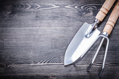 Stainless spade and rake