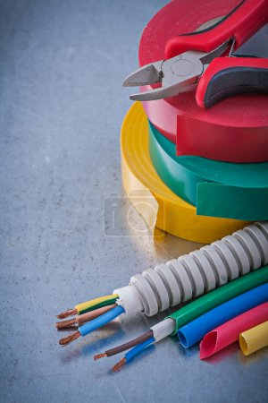 Insulating tapes, nippers, electric wires