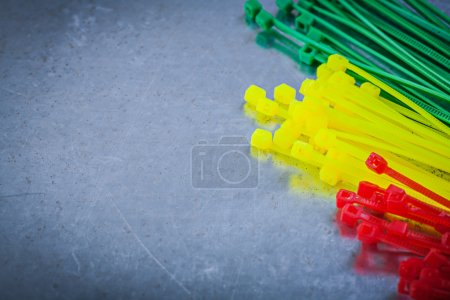 Stack of plastic cable ties