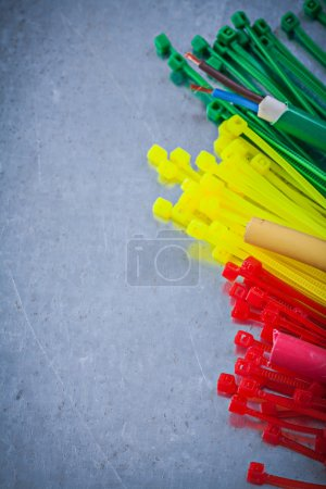 Composition of plastic cable ties