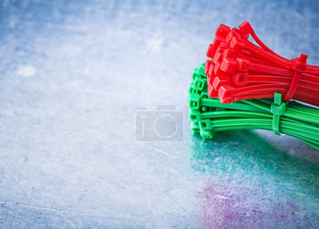 Plastic self-locking cable ties
