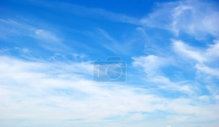 Photo for Blue sky background with white clouds - Royalty Free Image