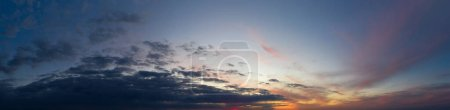 Photo for Panorama sky. Beautiful cloud in the sunrise sky background. Sky banners background. - Royalty Free Image