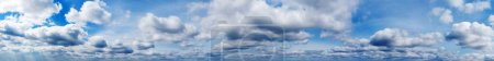 Photo for Panorama Blue sky and white clouds. Bfluffy cloud in the blue sky background - Royalty Free Image