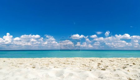 Photo for Beach and tropical sea. nature background - Royalty Free Image