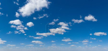 Photo for Panoramic fluffy cloud in the blue sky. Sky with cloud on a sunny day. - Royalty Free Image