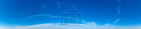 Photo for Blue Sky background with tiny Clouds. Panorama background - Royalty Free Image