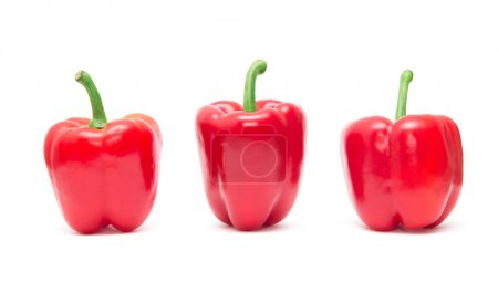 Photo for Red sweet pepper isolated on white background. - Royalty Free Image