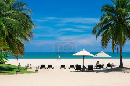 Photo for Beautiful tropical Maldives island with beach. - Royalty Free Image